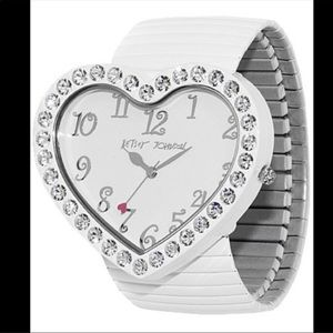 Betsey Johnson Accessories - Betsey Johnson Heart Watch w/ Rhinestones